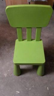 Kinder Stuhl grün IKEA