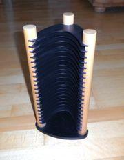 CD Ständer mit hellem Holz