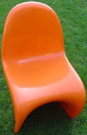 Freischwinger Designstuhl orange