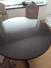 4 Stühle 1 Tisch Mahagoni