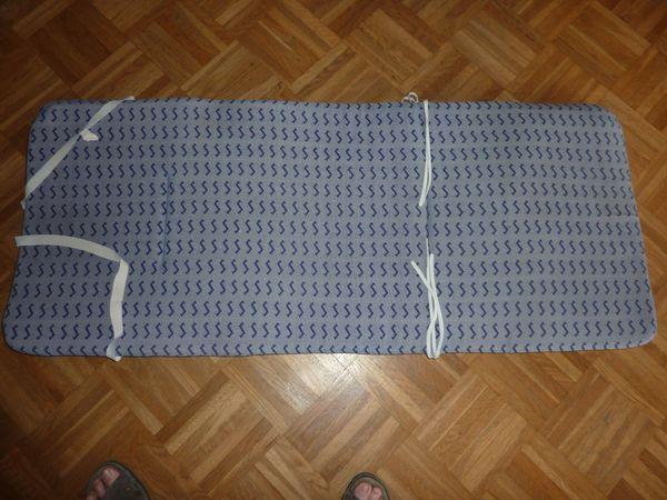 Campingstuhl-Auflagen blau mit etwas grau, guter Zustand