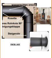 Kamin Kaminofen Schornstein Anschluss Aufbau