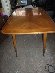 Tisch Holz Ausziehbar Höhenverstellbare Messingfüße