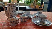 Traumh nostalgisches Porzellan-KaffeeGeschirr Jäger Eisenberg-Saks