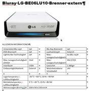 Bluray Brenner und DVD-Brenner Extern