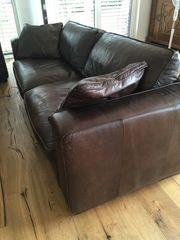 Couch - Leder - dunkelbraun