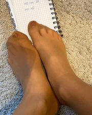 getragene Nylonsöckchen Söckchen Socken Nylon