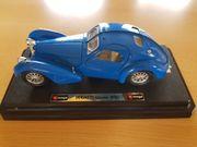 Bburago Bugatti Atlantic 1936 blau