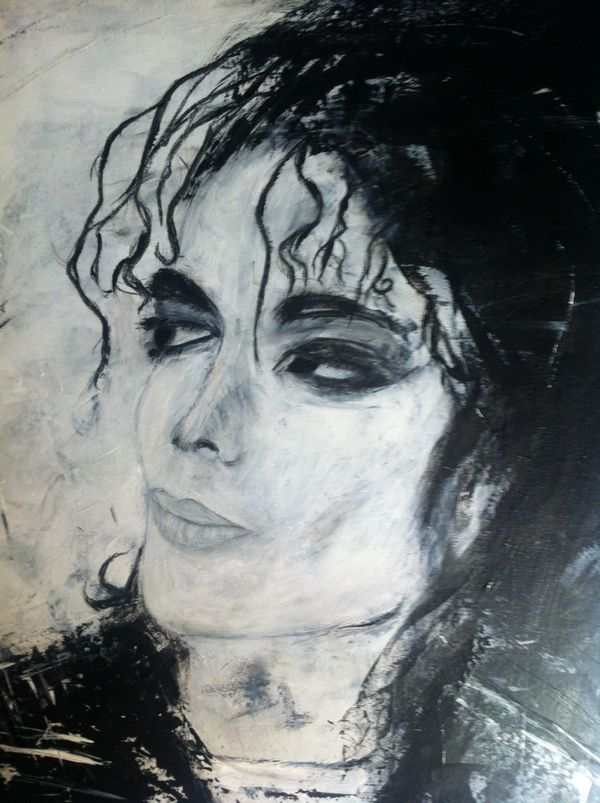 Michael Jackson Acrylgemälde Abstrakt Leinwand