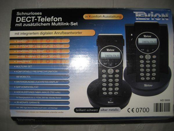 Tevion DECT-Telefon-Anlage MD 5909 mit