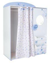 Kleiderschrank Snow mit Vorhang Spiegel