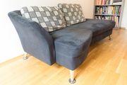 Sofa Couch mit Hocker in