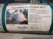 Iglu-Doppeldach-Leichtzelt für 3 Personen Silber