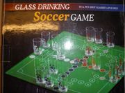 GLASS DRINKING SOCCER GAME