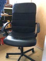 Bürodrehstuhl schwarz höhenverstellbar