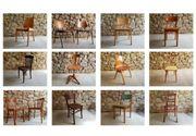 Vintage Esszimmer Stühle gebrauchte Möbel
