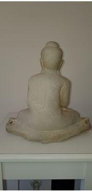 Buddha antik Marmor 30x32 cm