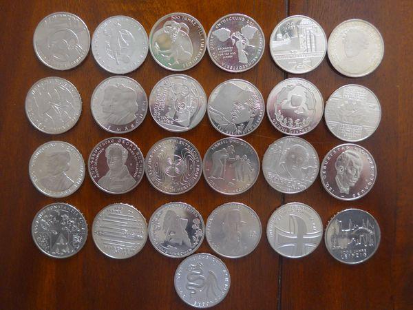 25 x 10EUR - kompletter Satz in Cu/Ni - Datteln - alle 25 x 10EUR Münzen die ausgegeben wurden - kompletter Satz - Datteln
