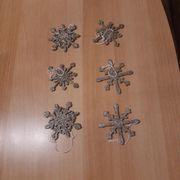 6 Sterne Schneeflocken zum Aufhängen