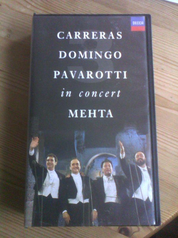 VHS Kassette Domingos Carreras Pavarotti