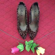Damen - Leoparden - Pumps Braun Schwarz
