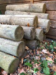 Palisaden Holz 20 Stück zu