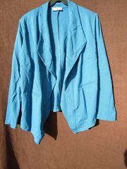 Gr 48 Schöner Jersey-Blazer Farbe Saphir