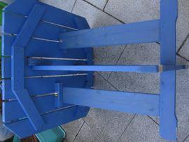 Gartenmöbel - Holztisch Kiefer 70x70 Blau Balkon