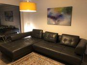 Schilling Leder Sofa