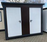 WC Container Toilette Box Doppelkabine