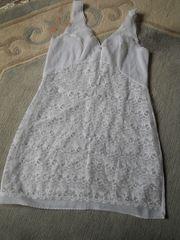 weißer sexy Spitzenunterrock Kleid Gr