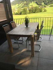 Tisch 4 Stühle Holz