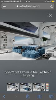 STOFFSOFA IVA L FORM COUCH