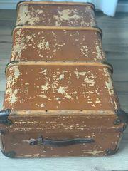 Antiker Reisekoffer Überseekoffer Reisetruhe Deko