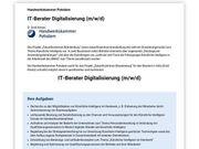 IT-Berater Digitalisierung m w d