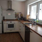 Weiße Ikea-Küche als Küchenzeile oder