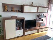 Wohnwand und Sideboard Nussbaum Vanille