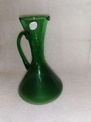 Glasvase grün H 18 5
