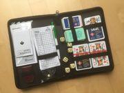 Hochwertiges Spiele-Set im Lederfaseretui