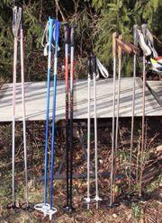 Sechs Paar Skistöcke 105 120