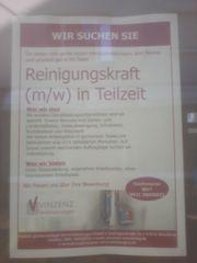 Reinigungskraft deutschsprachig