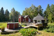 Schweden rustikales Ferienhaus mit Alu-Motorboot