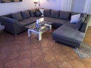 ANGEBOT 350 Couch- Sitzgarnitur grau