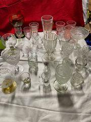 Alte seltene Gläser