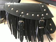 Schwarze Motorradtasche