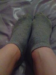Getragene Sneaker Socken