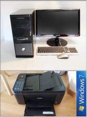 Büro PC - Komplettsystem Drucker Scanner
