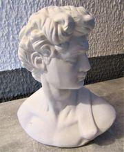 Büste Statur Skulptur Weiß Gips