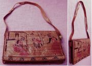 Handtasche für Damen - Komplett-Leder - Aus Afrika