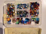 Bastelsachen Verschlüsse Glasaugen Glassteine Perlen